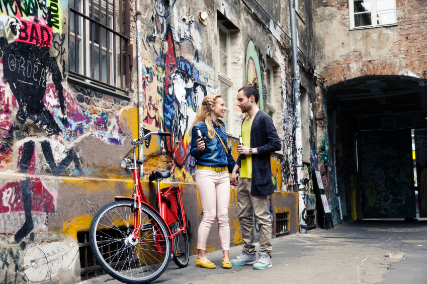 bikes, beers, and an alley. you're all set.