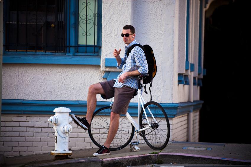 fixed bike, fixed attitude.