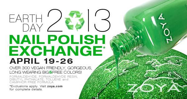 Earth Day Nail Polish Exchange 2013