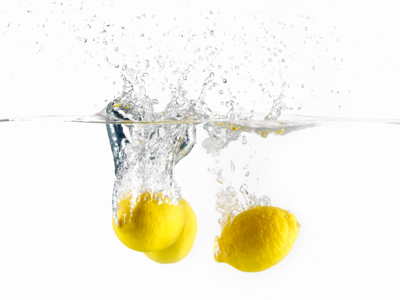 Lemons, Splashing in Water -Photographed on Hasselblad H1-22mb Camera