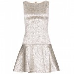 Alice + Olivia Lora Metallic Dress