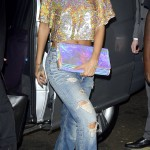 Rihanna in sequins and her toned summer tummy.