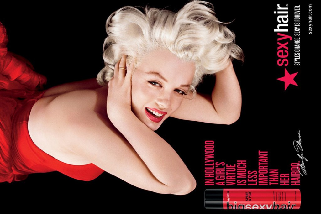 Styles change. Sexy is forever: Marilyn Monroe to Appear In Hairspray Ads