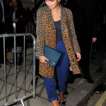 Leopard Coats + Pantone Color of 2014: Dazzling Blue