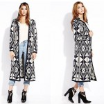 Forever 21 Out West Hooded Maxi Cardigan