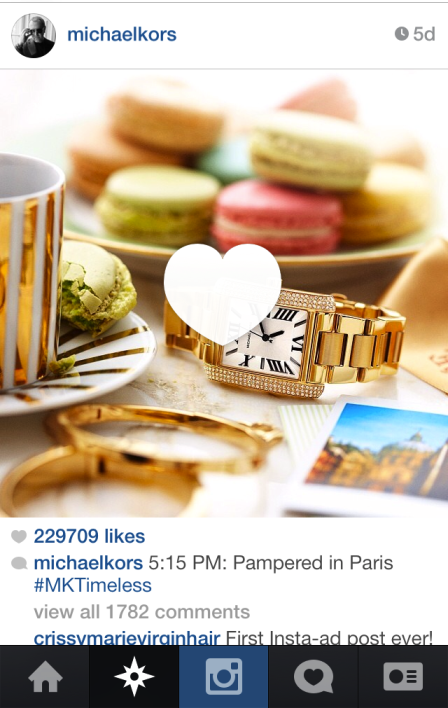 Watch This: First Instagram Ad for Michael Kors Watch Reaches Over 6M People
