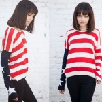 Brandy Melville Cassidy American Flag Sweater