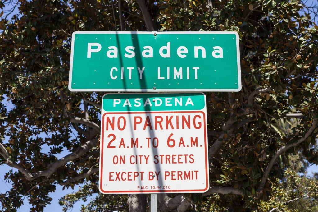 welcome to Pasadena, just leave before 2.