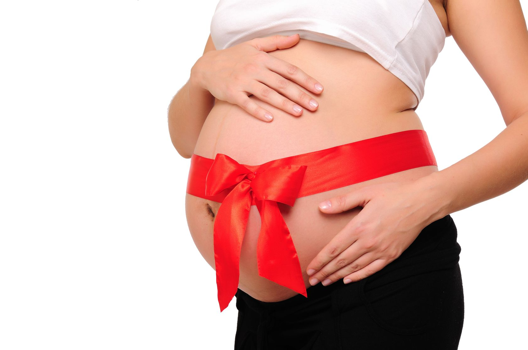 Фото беременных пузиков с ленточкой