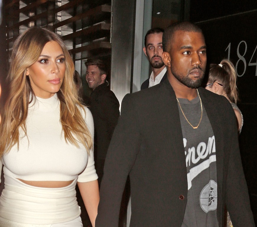 Celebrities attend Gelila & Wolfgang Puck?s Dream for Future Africa Foundation honoring Vogue Italia Editor-In-Chief Franca Sozzani at Spago Beverly Hills Featuring: Kim Kardashian,Kanye West Where: Los Angeles, CA, United States When: 25 Oct 2013 Credit: Brian To/WENN.com