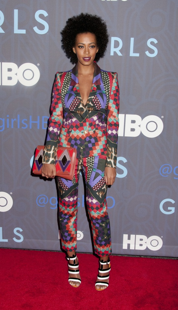 """HBO Hosts The Premiere Of """"Girls"""" Season 2 - arrivals Featuring: Solange Knowles Where: New York City, NY, USA When: 09 Jan 2013 Credit: WENN.com **Not available for publication in USA magazines**"""