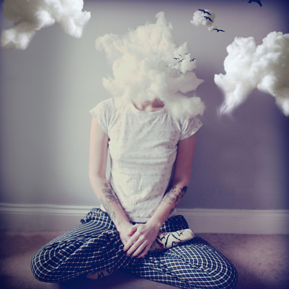 head in the clouds, not always dreamy.