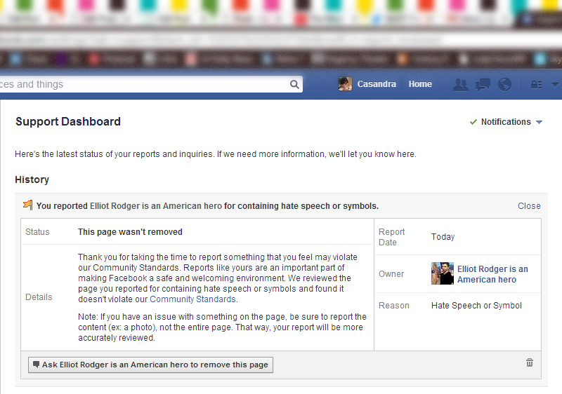 Facebook Refuses to Remove Dangerous Elliot Rodger Memorial Page
