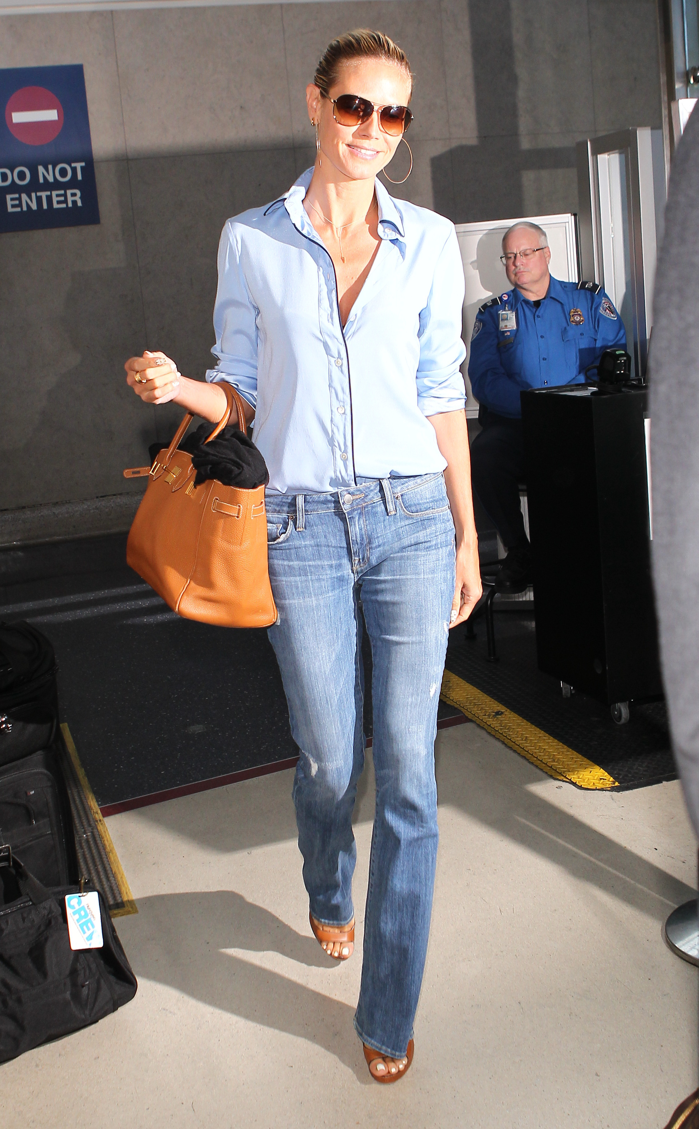 Heidi Klum arrives at Los Angeles International (LAX) airport