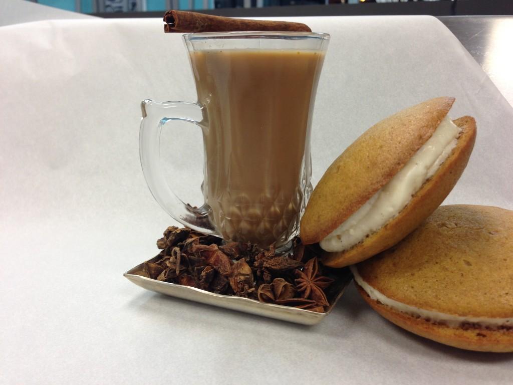 Bourbon Chai Latte & Whoope Pie
