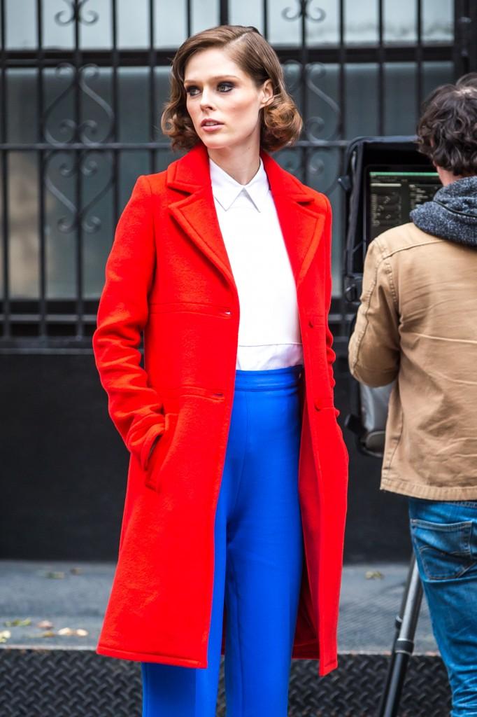Coco Rocha filming in New York