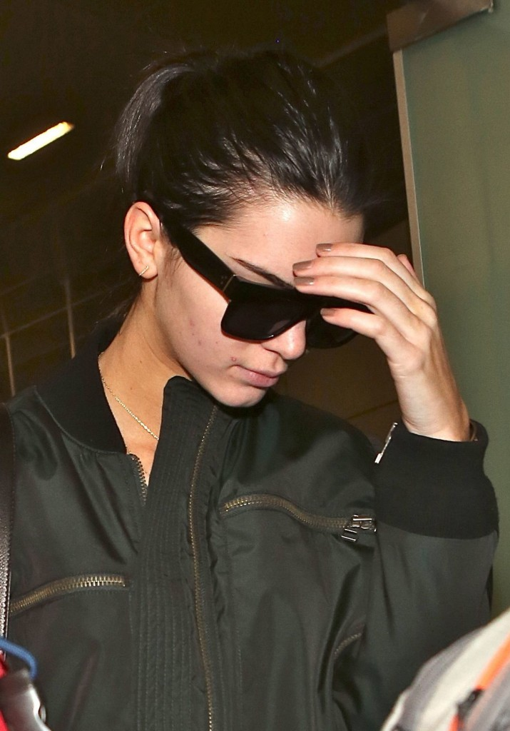 Kendall Jenner arrives in Los Angeles at LAX