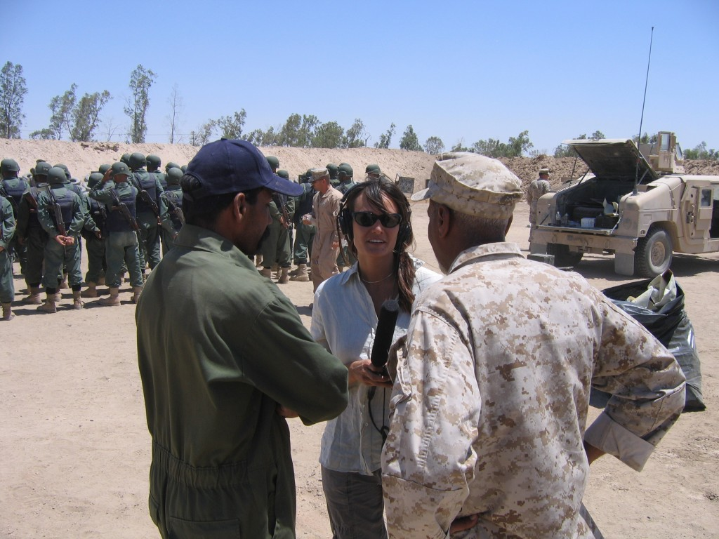me and Iraqi troops