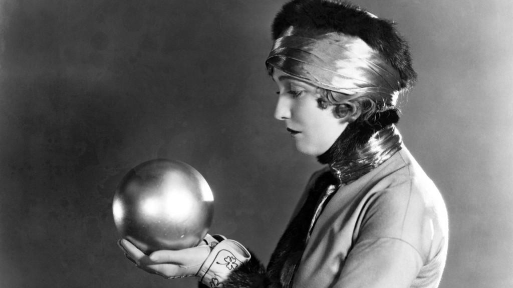 woman gazing into crystal ball