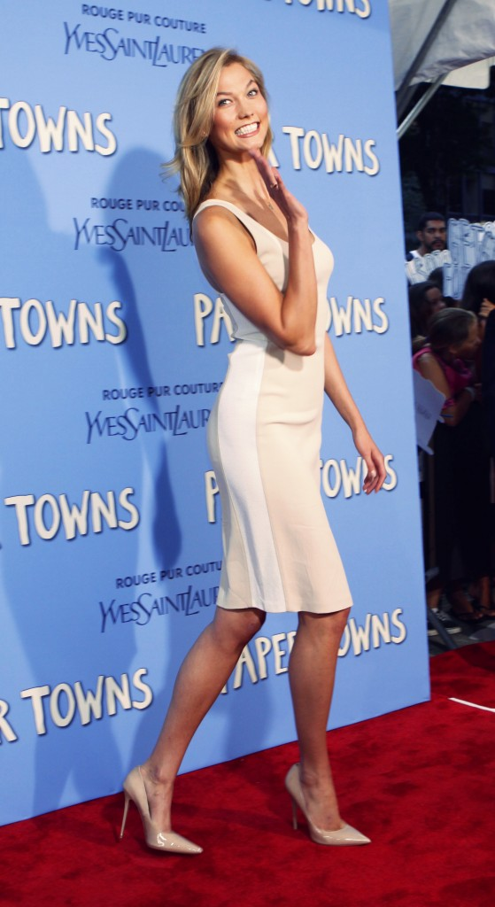 New York premiere of 'Paper Towns' at AMC Loews Lincoln Square - Red carpet arrivals Featuring: Karlie Kloss Where: New York, New York, United States When: 21 Jul 2015 Credit: Michael Carpenter/WENN.com **Not available for New York Daily News.**