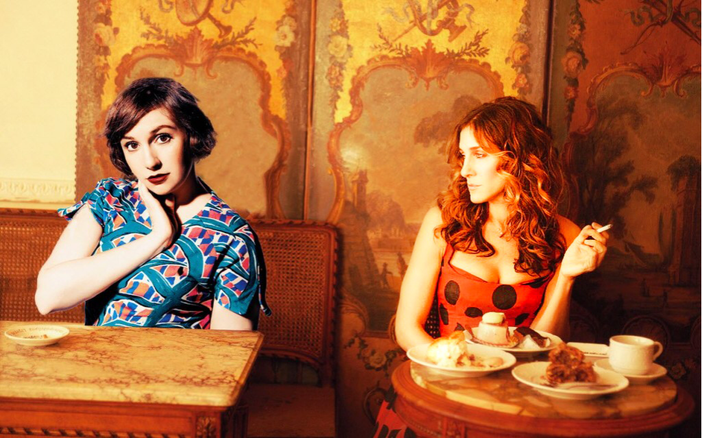 hannah and carrie in a cafe