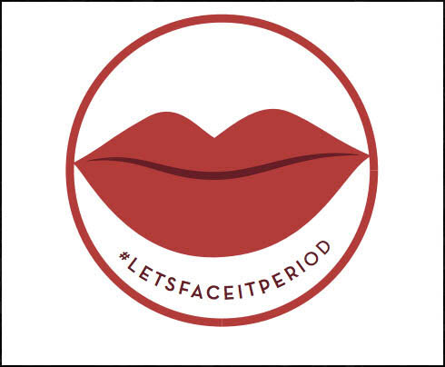 Let's face it period logo 2