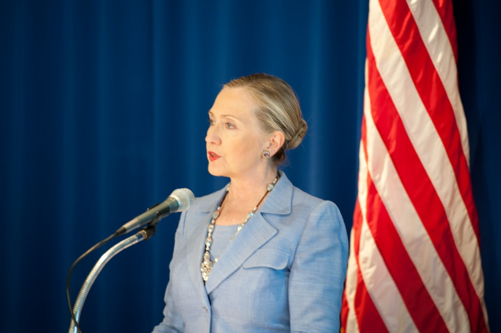 Secretary of State Hillary Clinton Addresses Burmese Media