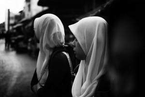 women wearing hijabs