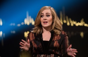 Skavlan Television Show filming at the London Studios.  Featuring: Adele Adkins Where: London, United Kingdom When: 03 Dec 2015 Credit: Daniel Deme/WENN.com