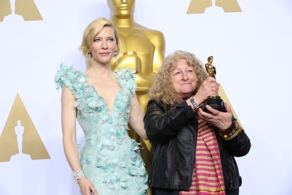 The 88th Oscars live from the Dolby Theatre - Press Room Featuring: Cate Blanchett, Jenny Beavan Where: Los Angeles, California, United States When: 28 Feb 2016 Credit: Brian To/WENN.com