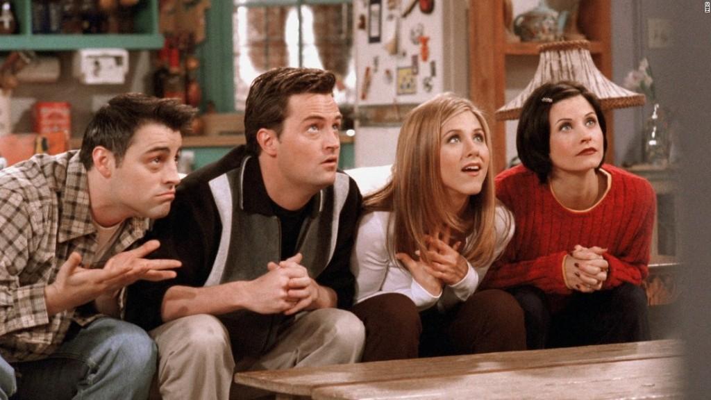friends cast watching tv