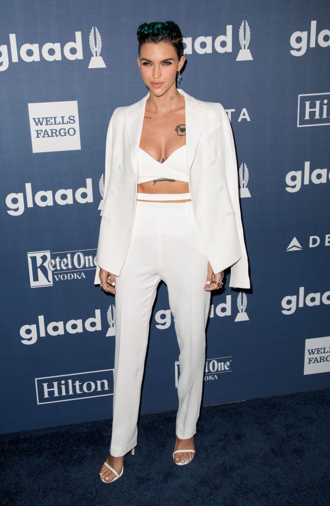Celebrities attend the 27th Annual GLAAD Media Awards at the Beverly Hilton Hotel. Featuring: Ruby Rose Where: Los Angeles, California, United States When: 02 Apr 2016 Credit: Brian To/WENN.com