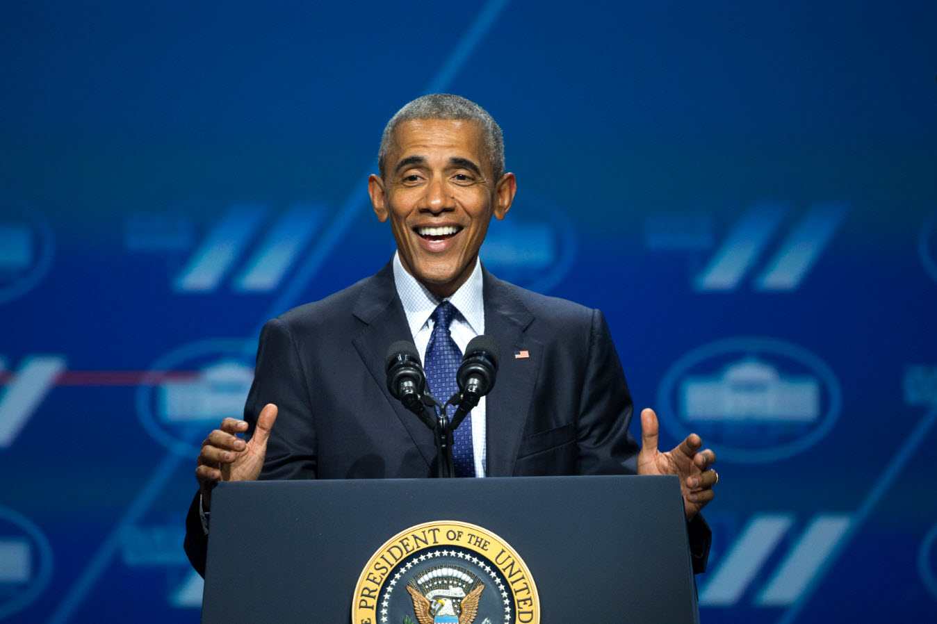 President Obama at the Women's Summit