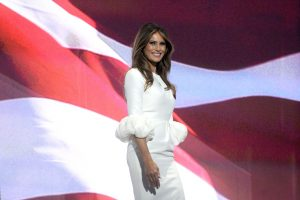 Melania Trump, wife of Donald Trump, addressing the 2016 Republican National Convention, at which delegates of the United States Republican Party chose the party's nominees for President of the United States and Vice President of the United States in the 2016 national election, held at the Quicken Loans Arena in Cleveland, Ohio.  Featuring: Melania Trump Where: Cleveland, Ohio, United States When: 17 Jul 2016 Credit: Dennis Van Tine/Future Image/WENN.com  *****Not available for publication in Germany, Poland, Russia, Hungary, Slovenia, Czech Republic, Serbia, Croatia, Slovakia*****
