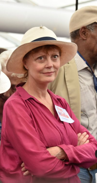 Put-upon Susan Sarandon at the DNC yesterday is us pretty much every day, everywhere.