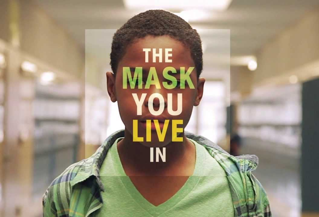 title card of film the mask you live in