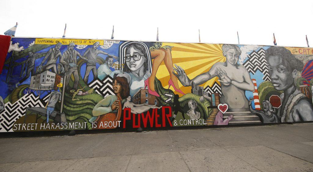 50813207 - new york - january 7, 2016: street harassment themed mural in brooklyn