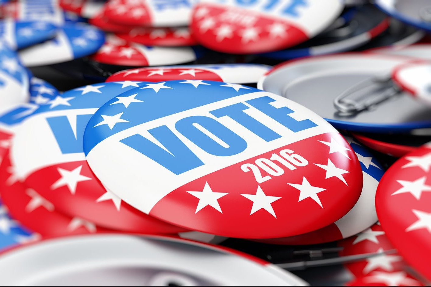 53801539 - vote election badge button for 2016 background