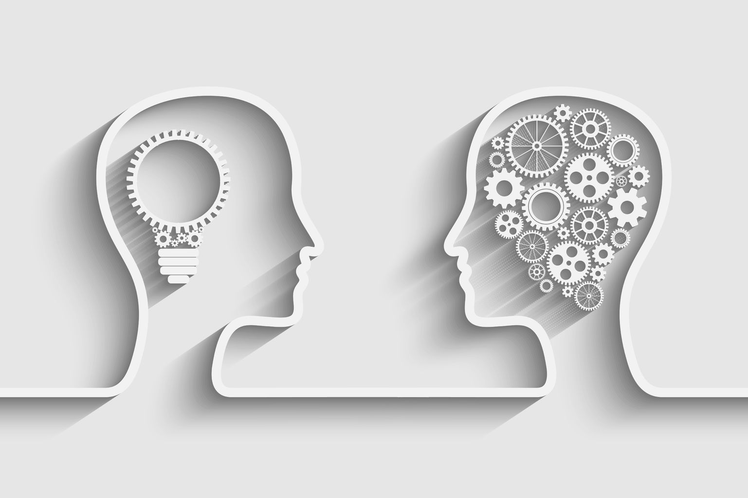 36776925 - human head  with set of gears as a symbol work of brain, eps10 vector background for your design